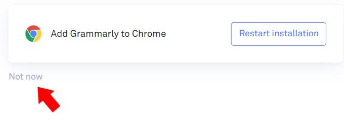 拡張機能不要ならNot nowをクリック
